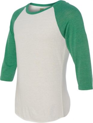 Alternative 2089e1 Eco jersey Baseball Raglan T shirt Eco True Green S   eBay