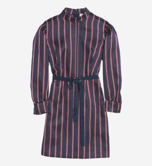 Robe courte à rayures