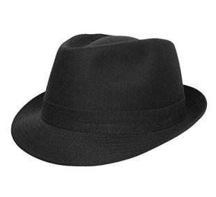 Classic Italy - Chapeau Trilby - 10 Coloris - Homme ou Femme Classic Trilby - Taille 51 cm - Noir