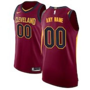Men's Cleveland Cavaliers Nike Maroon Authentic Custom Jersey   Icon Edition
