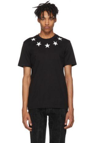 Givenchy   Black Vintage Stars T Shirt