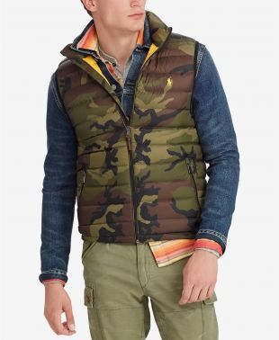 Polo Ralph Lauren Men's Big & Tall Camo Packable Down Vest