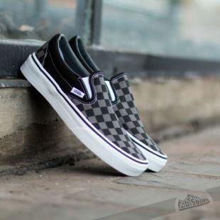 Vans Classic Slip On Black/ Pewter Checkerboard