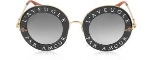 Gucci GG0113S L'aveugle Par Amour   Lunettes de Soleil Femme en Acétate et Métal