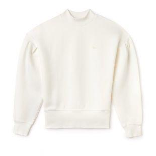 Sweatshirt col montant Lacoste LIVE en molleton à manches ballon