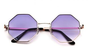 Fashion Women Oversized Metal Frame Octagon Sunglasses Ladies Pink Lens | eBay