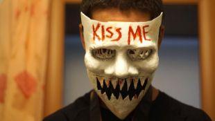 La purge 3 Kiss me année électorale Résine Effrayant Masque Accessoires Déguisement Horreur Halloween