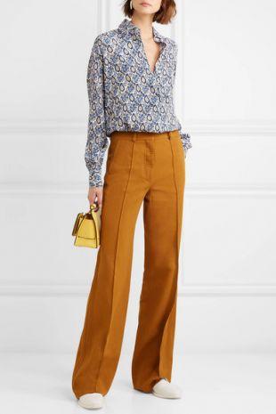 Victoria Beckham   Pantalon large en crêpe