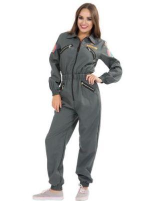 Womens Ellen Ripley Jumpsuit Alien 70s Space Film Costume
