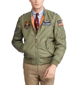 Bomber patchs   Polo Ralph Lauren   Galeries Lafayette