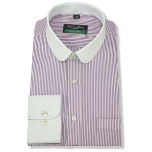 Mens Penny collar Bankers shirt Stripes Checks Round Club collar Easy Iron Gents  | eBay