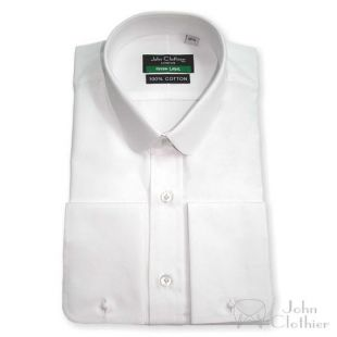 Pointes col œillères blanc sou coton homme chemise Club col rond pour les Messieurs