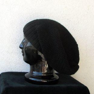 Dreadlock noir accessoires hiver Tuque longue unisexe