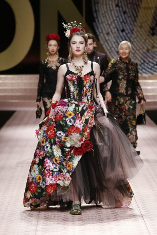 Dolce and Gabbana Haute Couture Spring 2019 Floral Gown