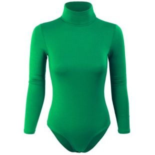 KOGMO Womens Turtleneck Bodysuit with Snap Button Closure   Walmart.com