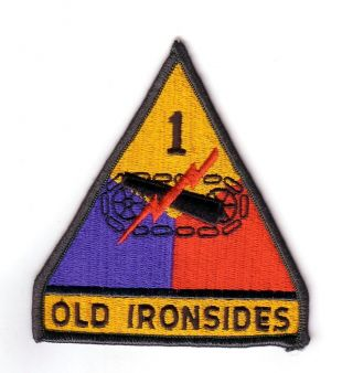"""1st ARMORED DIVISION """"Patch"""" (Fabrication Actuelle) 