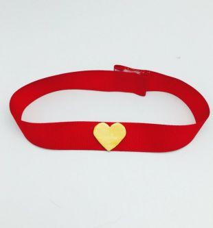 Sailor Moon collier rouge avec coeur jaune