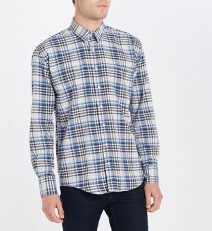 Chemise droite à carreaux   Guy De Berac   Galeries Lafayette