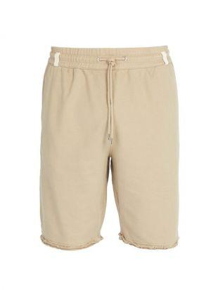 Distressed hem cotton shorts by Helmut Lang