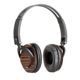 C Crane Senta 40 Premium On Ear Headphones with Detachable Fabric Cord and Carry Case   Wood Accent   Walmart.com