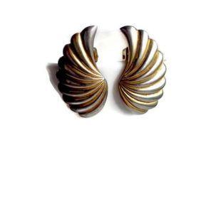 Clip boucles d'oreilles ailes d'ange Vintage boucles d'oreilles Boucles d'oreilles Clip métal bijoux ailes boucles d'oreilles en argent et or boucles d'oreilles été Noël en juillet