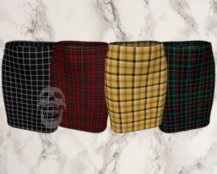 jupe cintrée à carreaux   plusieurs couleurs   tenue à carreaux ensemble