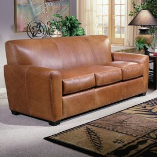 Jackson Leather Sleeper Sofa by Omnia Leather