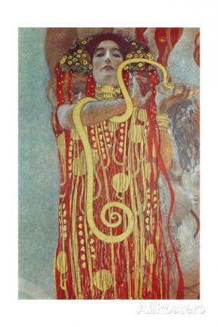 Hygieia, Detail from Medicine, 1900-1907  By: Gustav Klimt