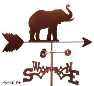 À la main faite la girouette éléphant neuf