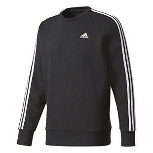 adidas Ess 3s Crew B, Sweat-Shirt À Capuche Sport Homme, Noir (Black/White Black/White), Large