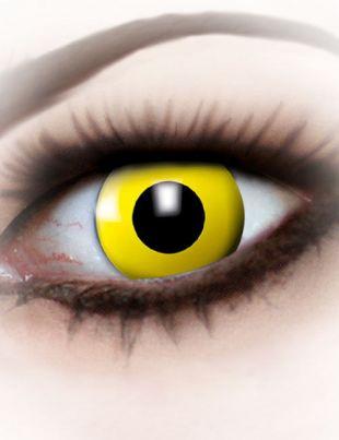 Lentilles fantaisie œil jaune adulte : Deguise toi, achat de Maquillage