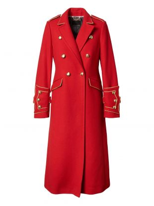 Banana Republic x Olivia Palermo Italian Melton Wool Blend Long Military Coat