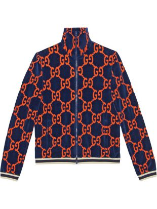 Gucci Veste Zippée à Logo GG Entrelacé   Farfetch
