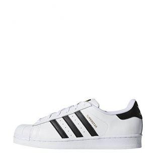 adidas Originals Women's Superstar Sneaker, White/Black/White, 8.5