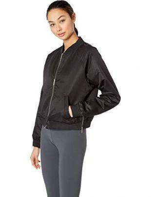 New Balance Womens Nb Heat Loft Reversible Bomber Jacket, Black, Small