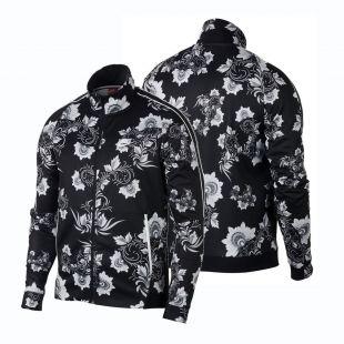 Nike Sportswear N98 Floral 909242 100 White/Black Khokhloma Men Printed Jacket  | eBay