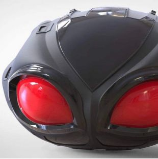 Accessoire de manta noir casque replica DC Aquaman