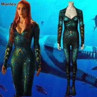 Aquaman Mera Costume Queen Cosplay Atlantis Halloween Jumpsuit Outfit Women    eBay