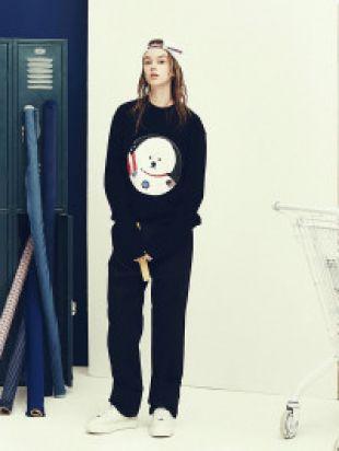 Apollo Dog Patch Sweatshirt Black BC by Beyond Closet