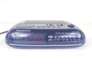 Vintage Panasonic RC 6088 AM/FM Digital Radio Bedside Alarm Clock in Black