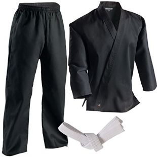 Century Martial Arts Middleweight Student Uniform with Elastic Pant - Black, 5 - Adult Large