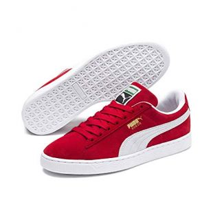 Puma Suede Classic+, Baskets Basses Mixte Adulte, Rouge, 42 EU