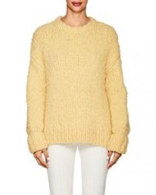 The Row Ophelia Crewneck Long Sleeve Cashmere Sweater