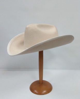 Chapeau de Cowboy canadien Mens crème Vintage, True Vintage