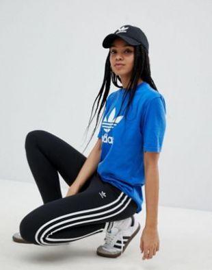 adidas Originals adicolor Leggings à trois bandes Noir