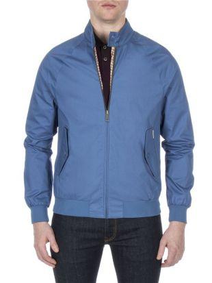 Ben Sherman Blue Harrington Jacket Federal blue