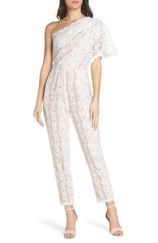 Harlyn One Shoulder Lace Jumpsuit | Nordstrom