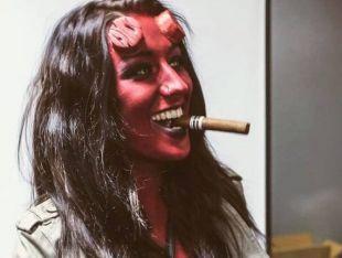 Hellboy   Latex cornes   prothétique