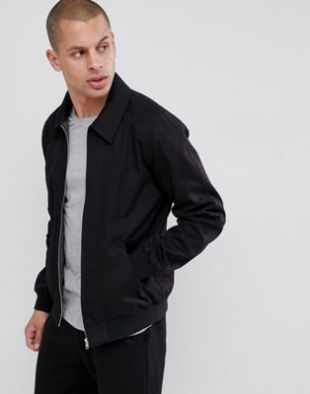 Asos harrington jacket in black