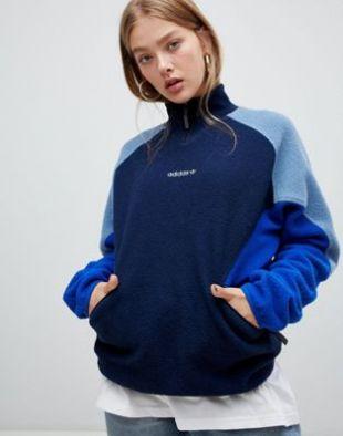 The sweater Adidas Originals shoulder sherpa Citadium Paris